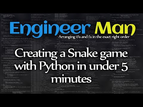 Creating a Snake game with Python in under 5 minutes -- Engineer Man