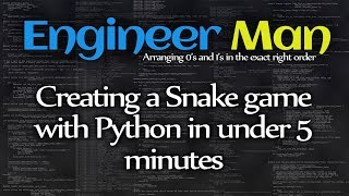 Creating a Snake game with Pyt…