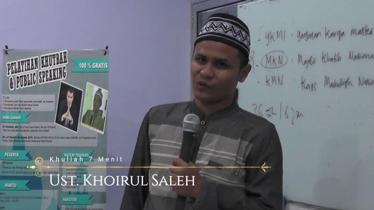 Kuliah Tujuh Menit Kultum Oleh Ust Khairul Saleh Youtube