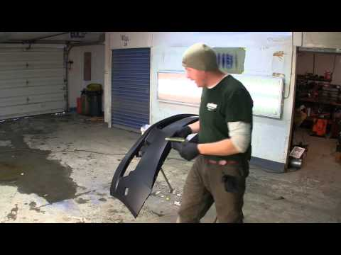 paint your car at home how to repair and paint a plastic bumper cover. Black Bedroom Furniture Sets. Home Design Ideas