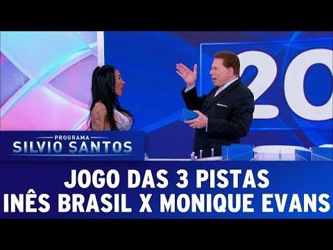 Jogo das 3 Pistas - Inês Brasil x Monique Evans | Programa Silvio Santos (17/09/17)