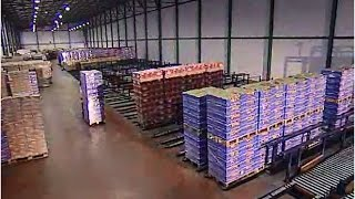 An automated warehouse on a food logistics centre   Mecalux UK