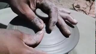 Clay pot lid finishing | Manufacturing of Handmade clay utensils
