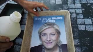 Test de produits chimiques divers sur Marine le Pen