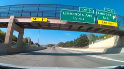 Driving from Detroit, Michigan to Southfield, Michigan