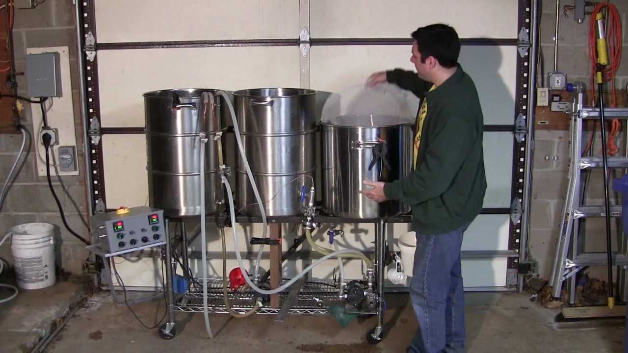 Tour Of 25 Gallon Electric Herms Brewing System Youtube