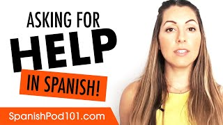 Ask for in spanish