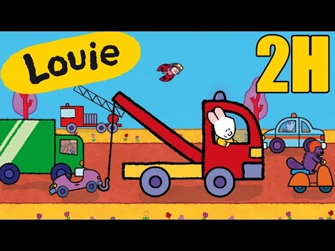2 Hours Of Louie : Vehicles Compilation #3 | Learn To Draw, Cartoon For Children