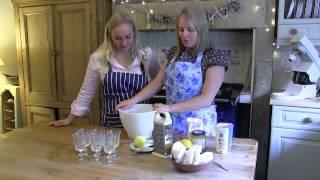 Fg Food Guru: Louise Hartley - Lemon Meringue Syllabub With Ginger And Lemon Shortbread Biscuits