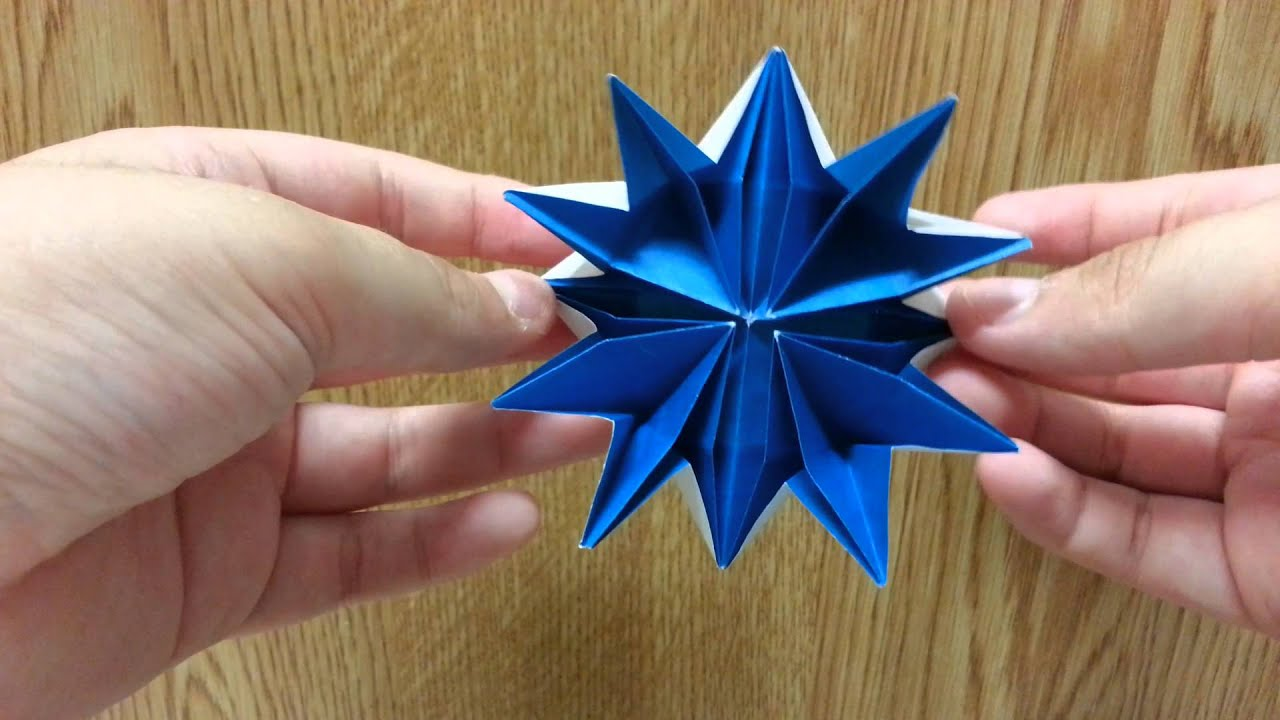Origami blooming star flower designed by jeremy shafer mason origami blooming star flower designed by jeremy shafer mason reever not a tutorial mightylinksfo