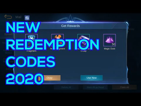 New Redemption Codes!!! | Mobile Legends 2020