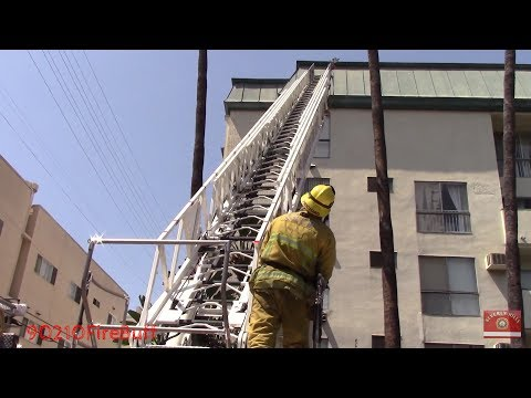 LAFD Structure Fire Response / Beverly Grove