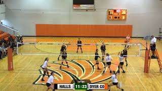 Volleyball - Halls High School vs Dyer County 9/25/2018