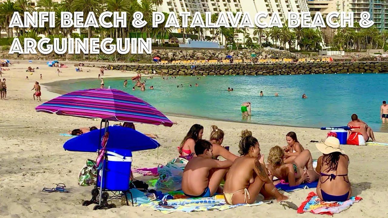 Gran Canaria Anfi Beach Patalavaca Arguineguin Stroll at Heat Wave 🌞