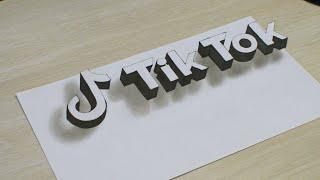 Рисую Логотип TikTok Как нарисовать объемную 3D надпись смотреть онлайн в хорошем качестве бесплатно - VIDEOOO
