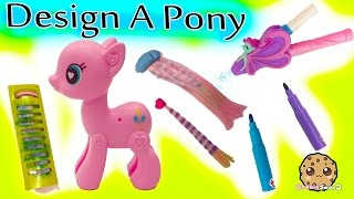 Design A My Little Pony Pinkie Pie Large Pop MLP with Blow Color Hair Pen Playset Video Review