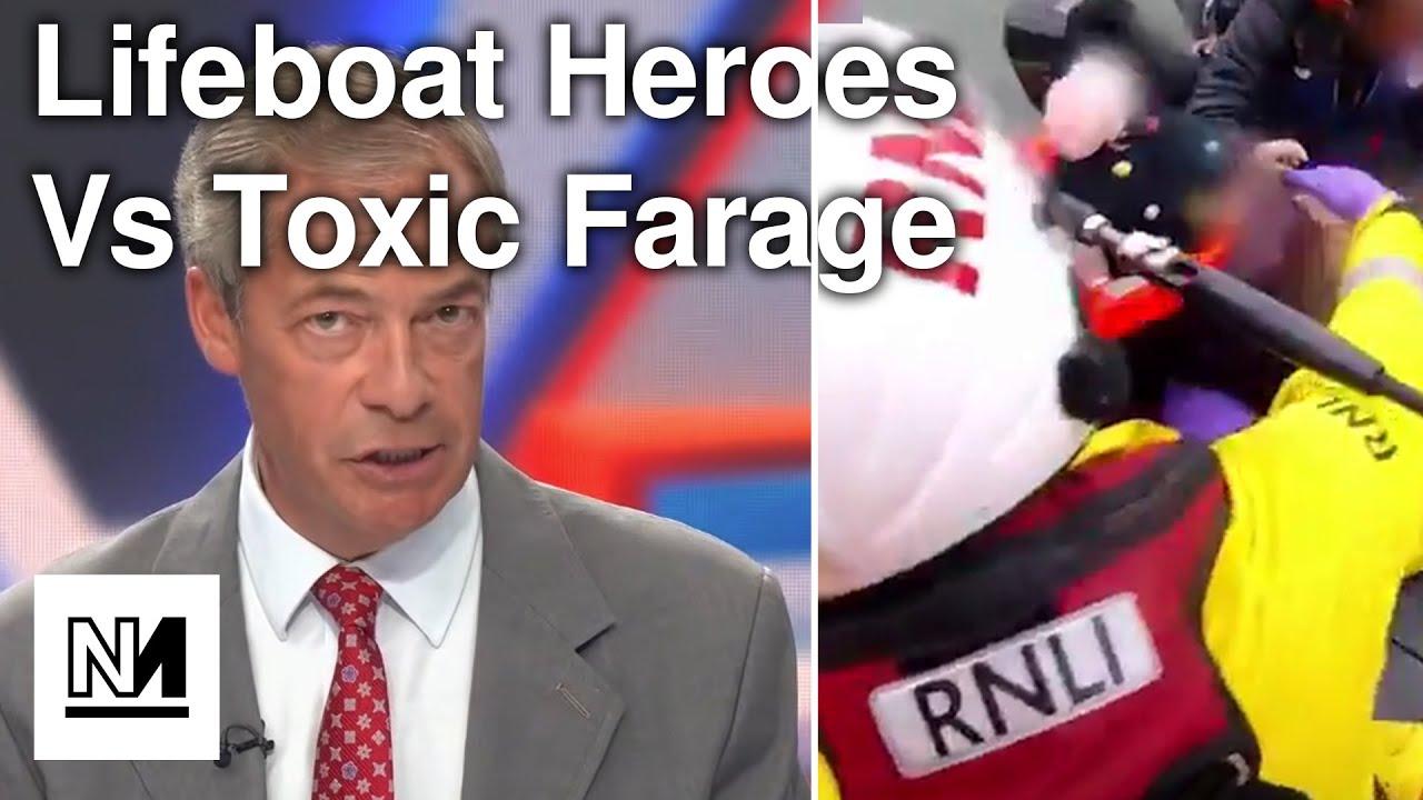 Lifeboat Volunteers HIT BACK At Toxic Farage