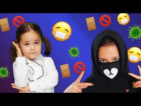 СКЕТЧ ОБЫЧНАЯ ШКОЛА Vs ШКОЛА НА КАРАНТИНЕ /Видео Анютка малютка