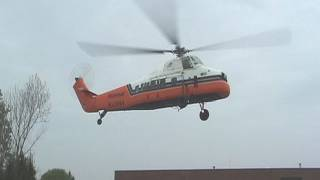 Sikorsky 58T helicopter pilot walk around