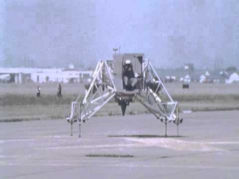 Neil Armstrong - Lunar Landing Research Vehicle (LLRV) Test Flight - (1969)