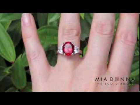 Lab Created Ruby Engagement Rings  MiaDonnacom  YouTube