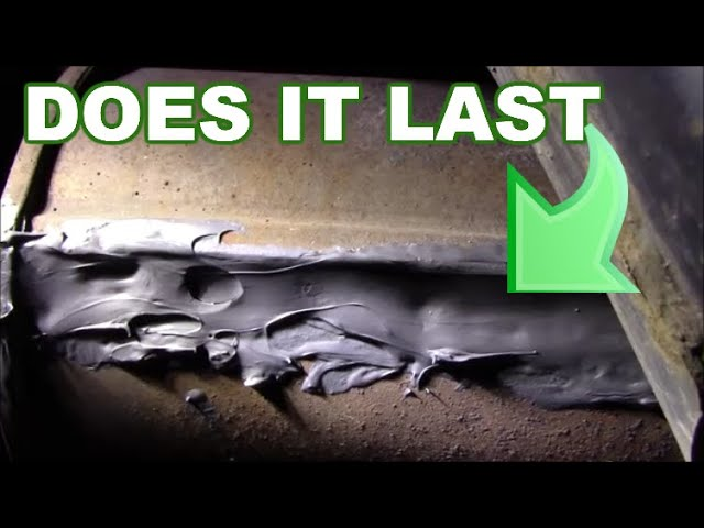 how to patch a muffler hole before and