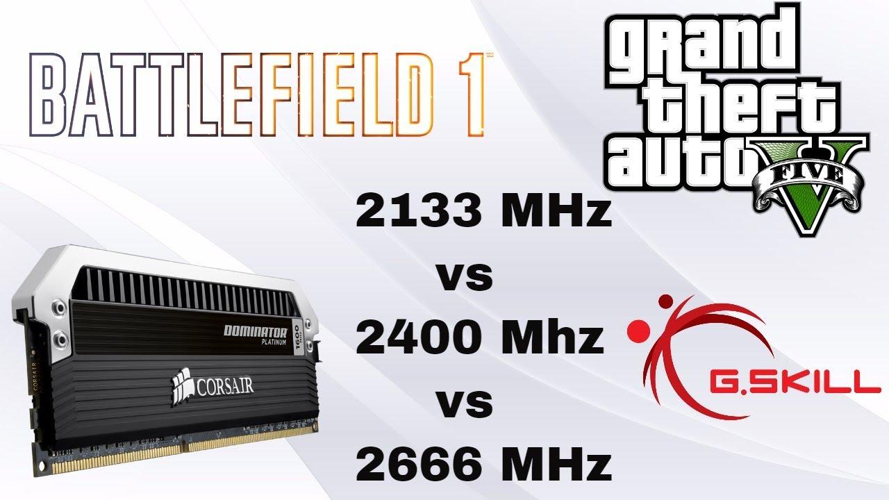 Does RAM Speed affect Gaming | 2133 MHz vs 2400 MHz vs 2666 MHz | 32 GB  DDR4 | GTX 970 G1