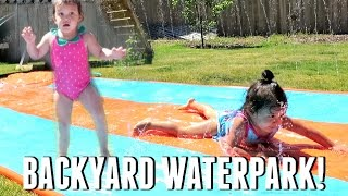 BACKYARD WATERPARK! - May 22, 2017 -  ItsJudysLife Vlogs