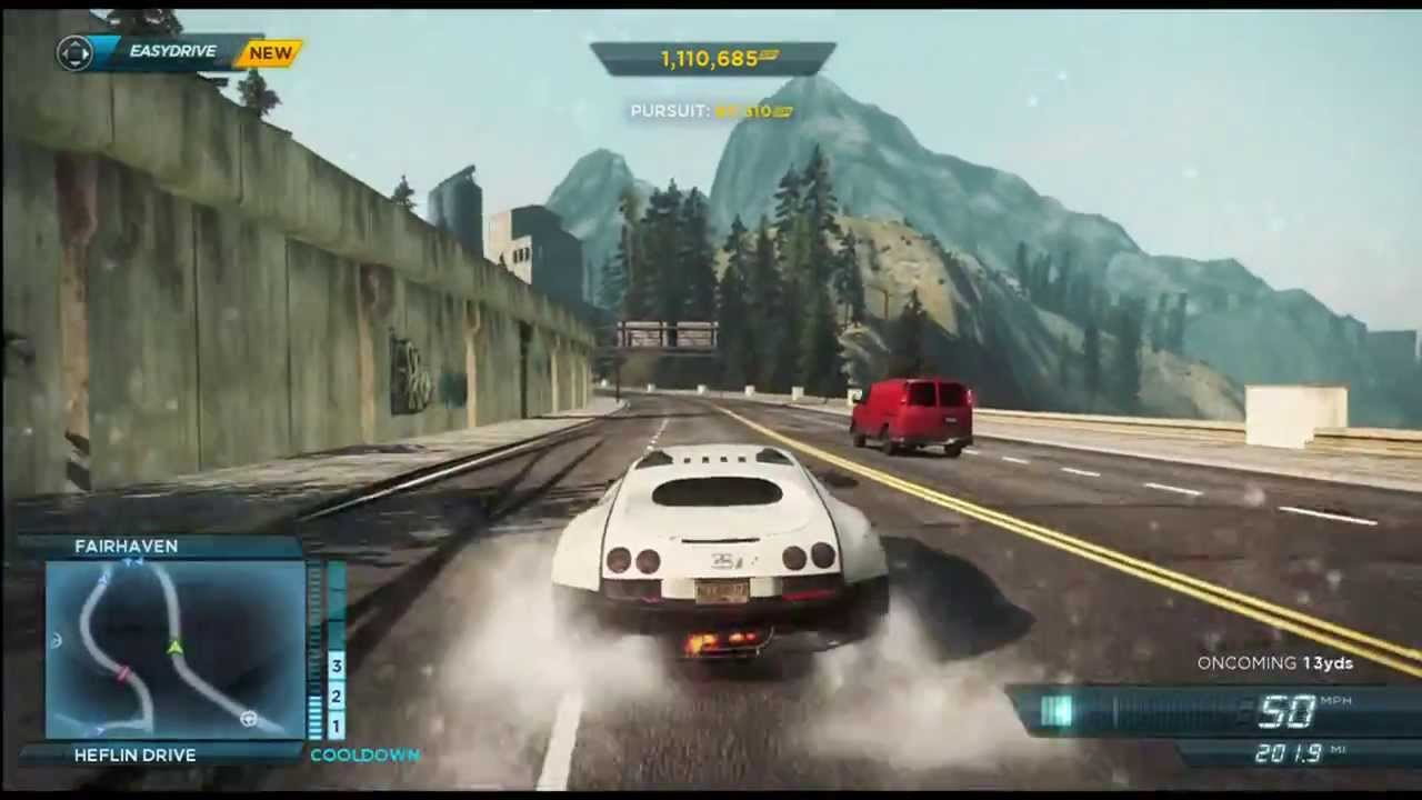 Need for Sd Most Wanted 2012 Pursuit Gameplay (Bugatti Veyron ...