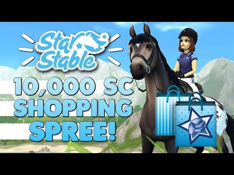 10,000 Star Coin Shopping Spree on Star Stable!   8 Horses, Clothes, Tack