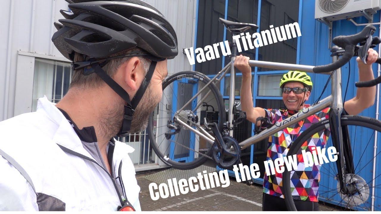 Collecting the new Vaaru Titanium bike...