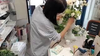 납골당추모꽃장식/실크플라워화기어렌지먼트/조화장식제작/플…