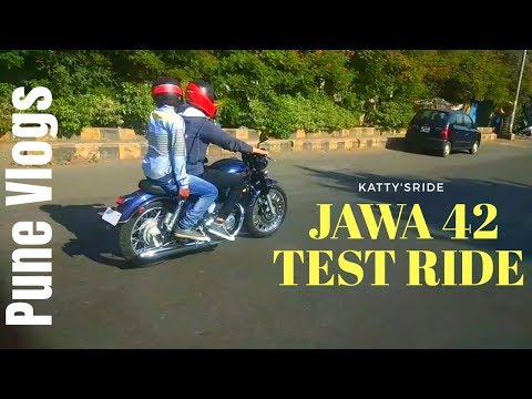 JAWA 42 TEST RIDE In PUNE | JAWA 42 TOP SPEED | KATTY'SRIDE | Pune Vlogs