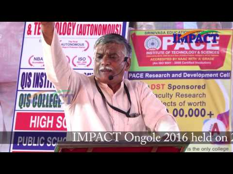 PROUD TO BE INDIAN Talk by APPALA PRSAD talk at IMPACT ONGOLE  2016