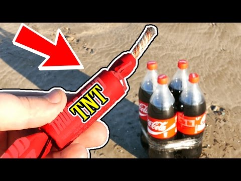 Thumbnail: LOOK WHAT HAPPENS WHEN YOU EXPLODE 4 COCA COLA BOTTLES!! - EXPERIMENT AT HOME