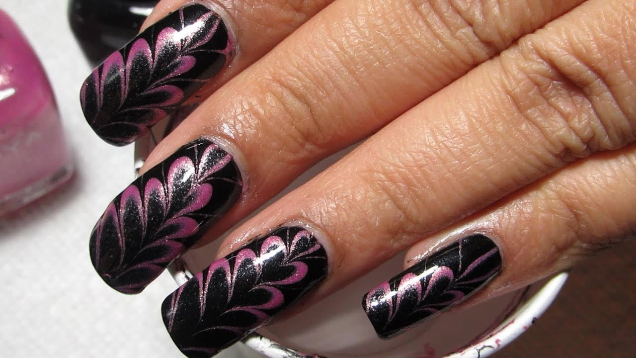 Pink black hearts valentines water marble nail art tutorial pink black hearts valentines water marble nail art tutorial youtube prinsesfo Gallery