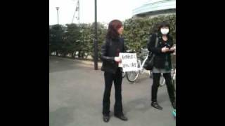 ダイヤモンドユカイさんが佐野市内 で募金活動をしているところ をとり...