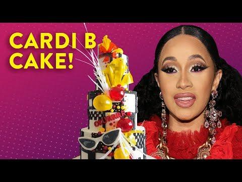 Evelyn Erives - It's Cardi B's Birthday, Let's Make Her A Cake... Okurrrrt!