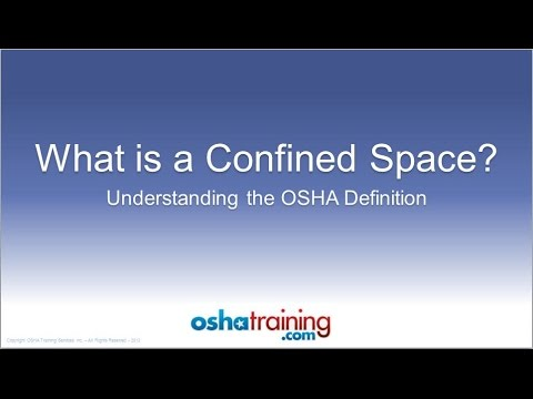 Free OSHA Training Tutorial - Identifying Confined Spaces