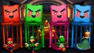 Mario Party The Top 100 MiniGames - Peach Vs Mario Vs Luigi Vs Yoshi (Master Difficulty)