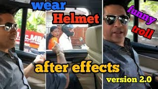 Sachin tendulkar !! Requesting all to wear helmet!! Weird reaction by public! Funny troll.