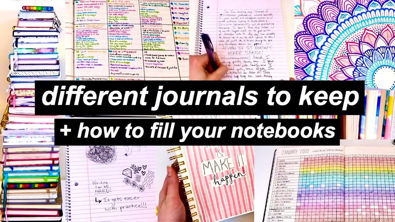 Download Different Journals To Keep + How To Fill Your Notebooks