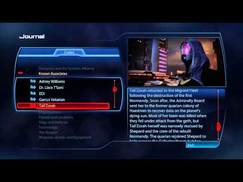 Let's Play Mass Effect 3 - bonus - Primary codex