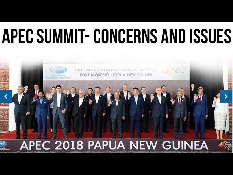 Asia Pacific Economic Cooperation Papua New Guinea 2018 Summit, APEC Concerned About US China Clash