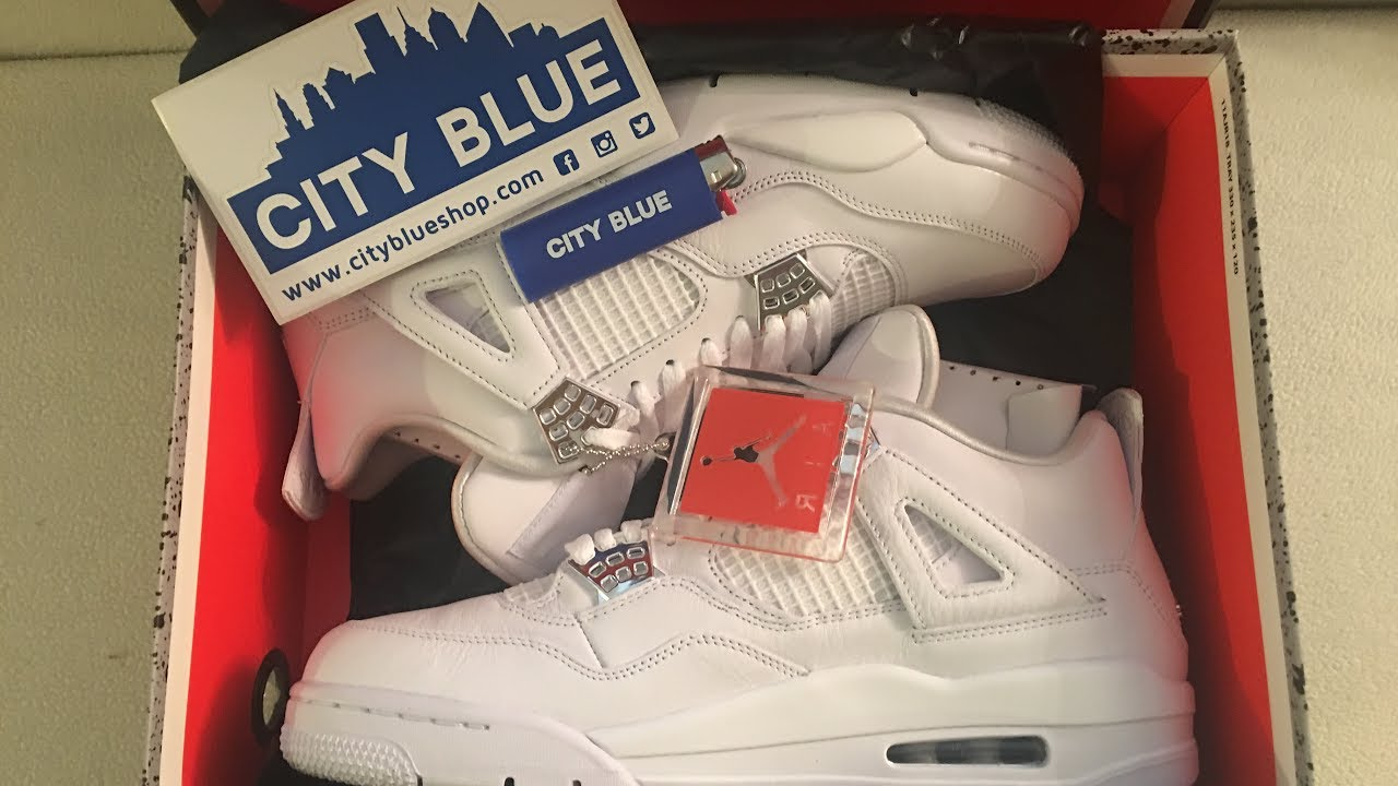 separation shoes 792e9 4f680 Air Jordan 4 Retro Pure Money Under Retail Unboxing @CityBlueShop