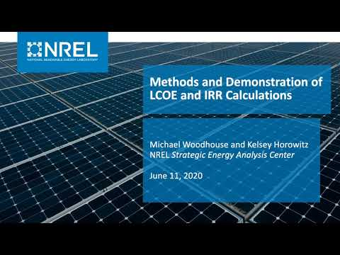 Levelized Cost of Electricity and Internal Rate of Return Calculations for PV Projects