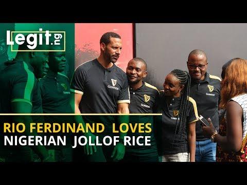 Man United legend Rio Ferdinand reveals his love for Nigerian Jollof rice  | Legit TV
