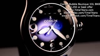 Corum Bubble Quartz Boutique Blue 45mm XXL BNIB 163.150.20