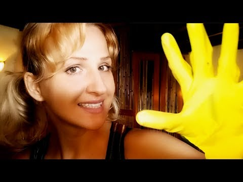 This CLEANER Wants to Give You an ASMR Head Massage! Rubber Gloves Role Play