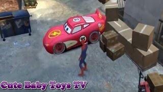 Disney Cars Pixar Spiderman Nursery Rhymes  an intro of Lightning McQueen